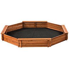 Surprising 6 5 Ft X 6 5 Ft Octagonal Wooden Sandbox Home Remodeling Inspirations Genioncuboardxyz