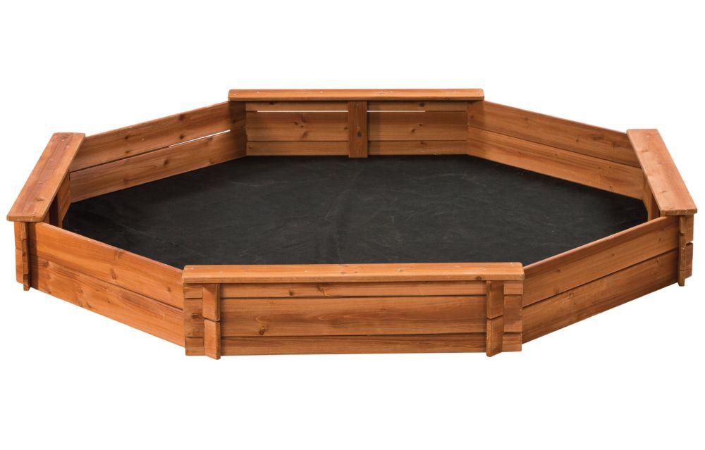 Creative Cedar Designs Octagon Wooden Sandbox 6.5 ft. x 6.5 ft.