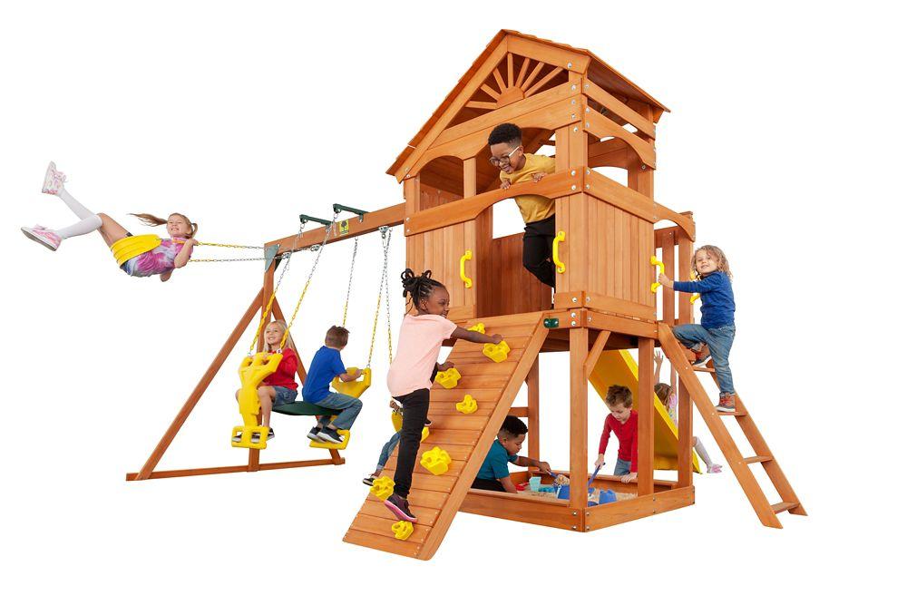 Creative Cedar Designs Timber Valley Wooden Playset