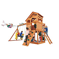 Timber Valley Wooden Playset with Green Accessories