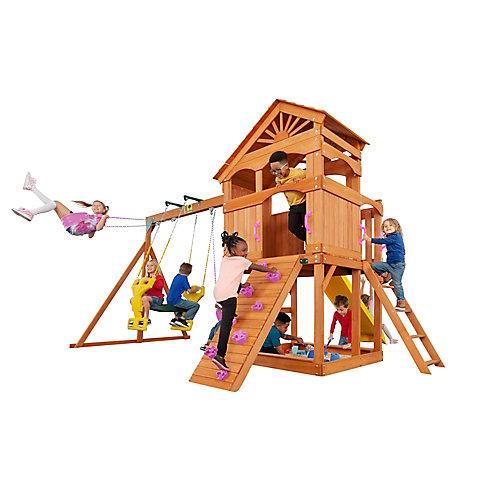 Structure de jeu en bois Timber Valley-Rose