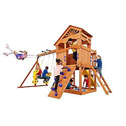 Creative Cedar Designs Structure de jeu Timber Valley-Rouge avec accessoires violets, bois