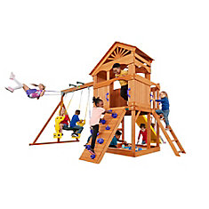 Timber Valley Wooden Playset with Purple Accessories