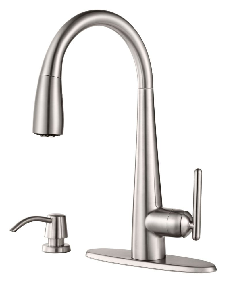 Pfister Lita Pulldown Kitchen Faucet with Xtract in Stainless Steel