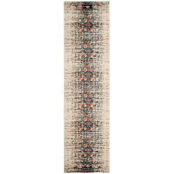 Safavieh Monaco Flynn Ivory / Blue 2 ft. 2-inch x 12 ft. Indoor Runner