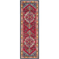 Safavieh Monaco Ngiem Red / Turquoise 2 ft. 2-inch x 14 ft. Indoor Runner