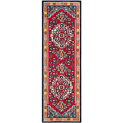 Safavieh Monaco Ngiem Red / Turquoise 2 ft. 2-inch x 8 ft. Indoor Runner