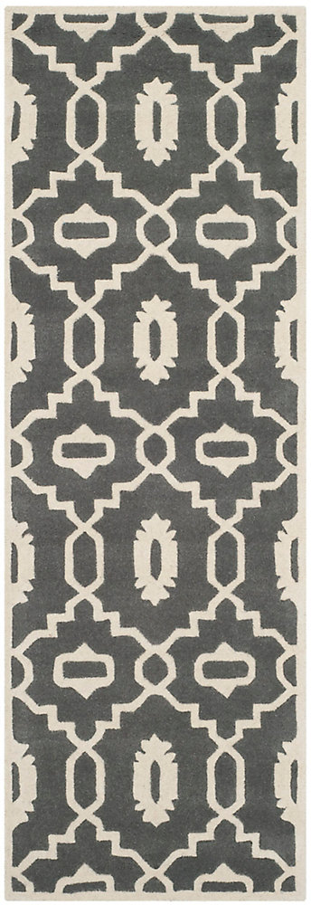 Chatham Chloe Dark Grey / Ivory 2 ft. 3-inch x 11 ft. Indoor Runner