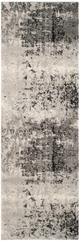 Safavieh Retro Mitchell Light Grey / Grey 2 ft. 3-inch x 11 ft. Indoor Runner