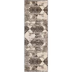 Safavieh Retro Prim Beige / Light Grey 2 ft. 3-inch x 11 ft. Indoor Runner