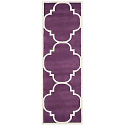 Safavieh Chatham Abe Purple / Ivory 2 ft. 3-inch x 7 ft. Indoor Runner