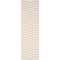 Safavieh Tapis de passage d'intérieur, 2 pi 3 po x 7 pi, Montauk Clark, ivoire / gris clair