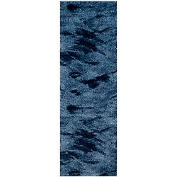 Safavieh Retro Rita Light Blue / Blue 2 ft. 3-inch x 7 ft. Indoor Runner