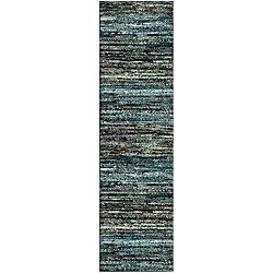 Safavieh Porcello Orphus Charcoal / Blue 2 ft. 3-inch x 8 ft. Indoor Runner