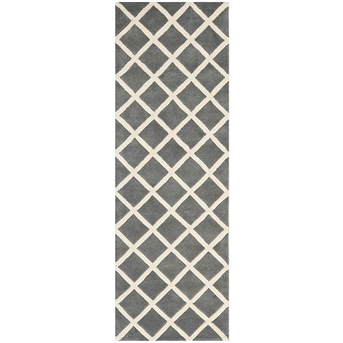 Safavieh Chatham Lily Dark Grey / Ivory 2 ft. 3-inch x 9 ft. Indoor Runner