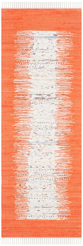 Safavieh Montauk Delroy Ivory / Orange 2 ft. 3-inch x 9 ft. Indoor Runner