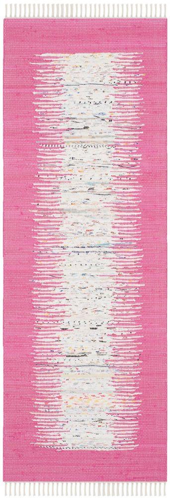 Safavieh Montauk Delroy Ivory / Pink 2 ft. 3-inch x 9 ft. Indoor Runner