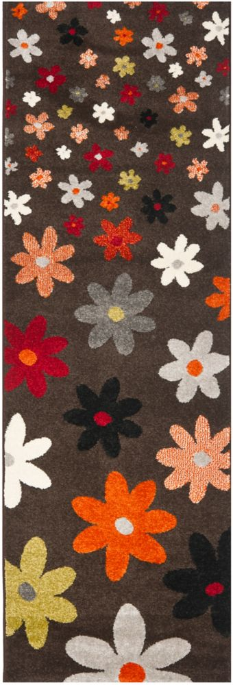 Safavieh Porcello Connie Brown / Multi 2 ft. 4-inch x 6 ft. 7-inch Indoor Runner