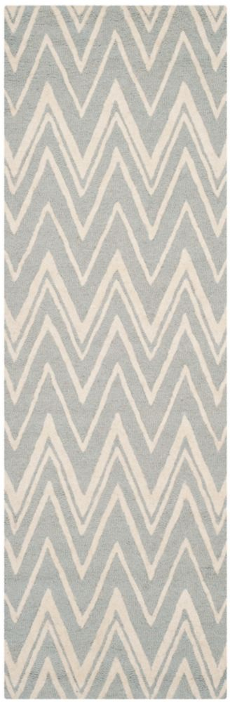 Safavieh Cambridge Chenny Grey / Ivory 2 ft. 6-inch x 10 ft. Indoor Runner