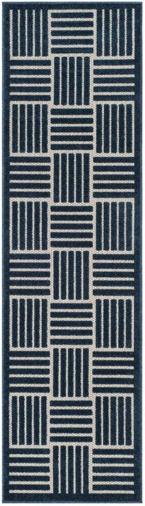 Safavieh Cottage Antoine Blue / Grey 2 ft. 3-inch x 8 ft. Indoor/Outdoor Runner