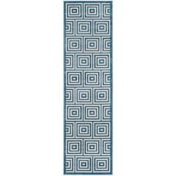 Safavieh Cottage Layton Cream / Light Blue 2 ft. 3-inch x 8 ft. Indoor/Outdoor Runner