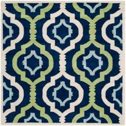 Safavieh Chatham Bree Dark Blue / Multi 3 ft. x 3 ft. Indoor Square Area Rug