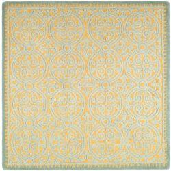 Safavieh Cambridge Samuel Blue / Gold 4 ft. x 4 ft. Indoor Square Area Rug