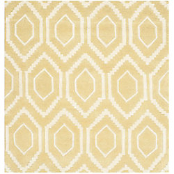 Safavieh Chatham Beau Light Gold / Ivory 4 ft. x 4 ft. Indoor Square Area Rug