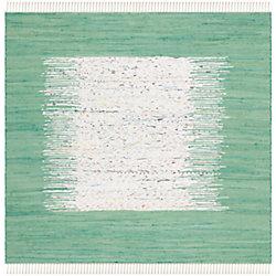 Safavieh Montauk Delroy Ivory / Sea Green 4 ft. x 4 ft. Indoor Square Area Rug