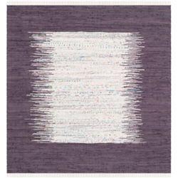 Safavieh Montauk Delroy Ivory / Purple 4 ft. x 4 ft. Indoor Square Area Rug