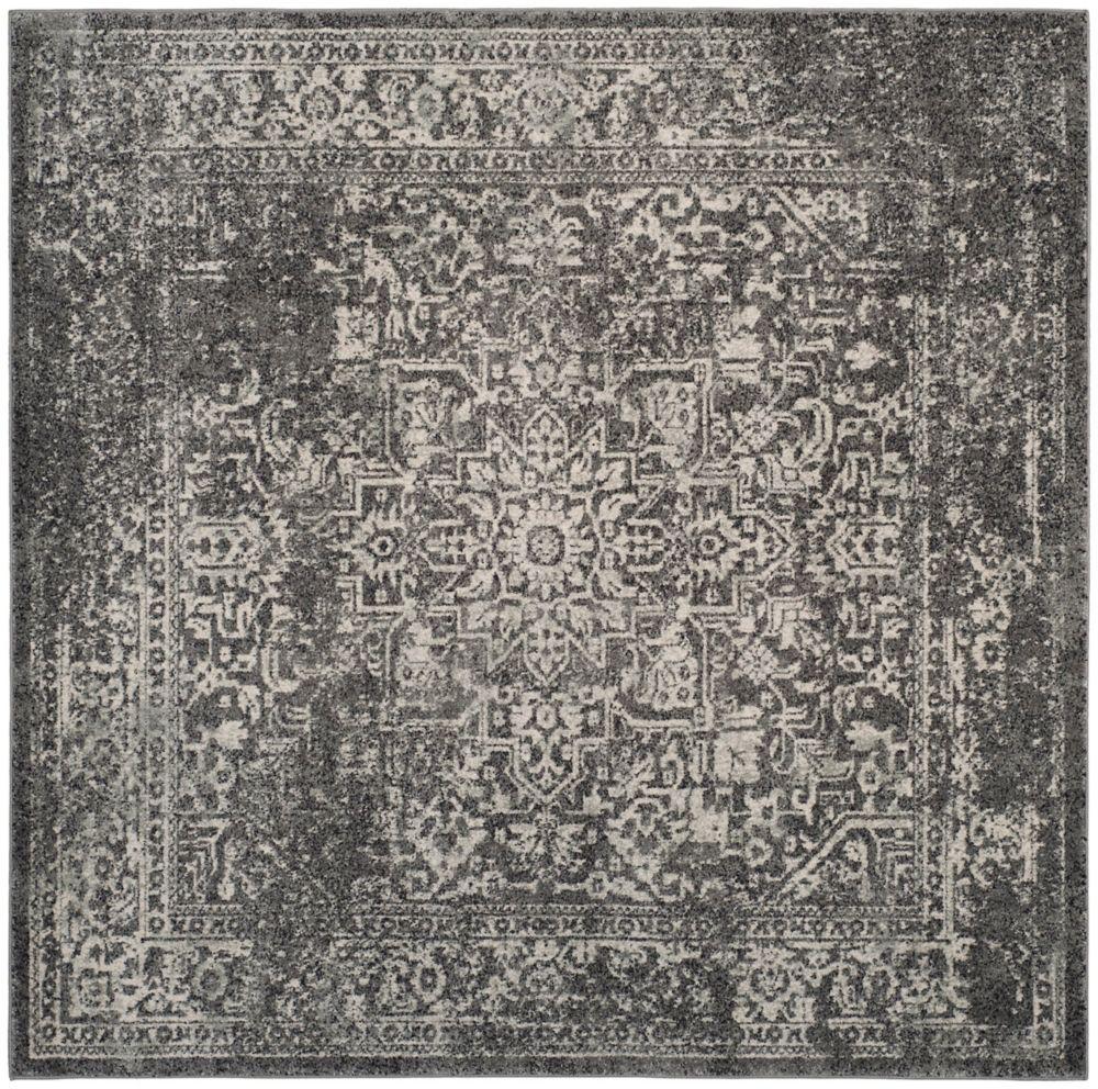 Safavieh Evoke Eric Grey / Ivory 5 ft. 1-inch x 5 ft. 1-inch Indoor Square Area Rug