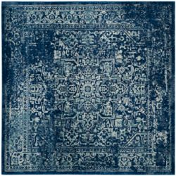 Safavieh Evoke Eric Navy / Ivory 5 ft. 1-inch x 5 ft. 1-inch Indoor Square Area Rug