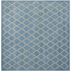 Safavieh Tapis d'intérieur carré, 5 pi x 5 pi, Chatham Adam, bleu gris