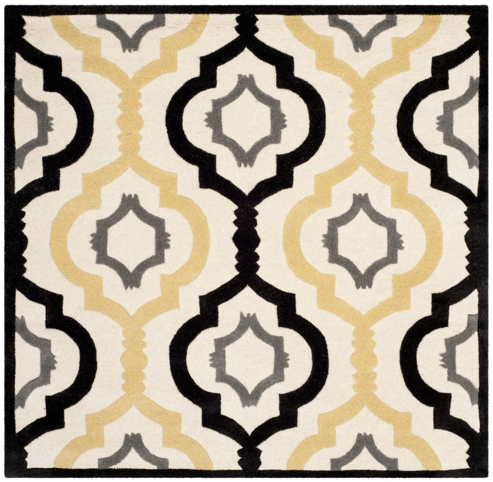 Safavieh Chatham Bree Ivory / Multi 5 ft. x 5 ft. Indoor Square Area Rug