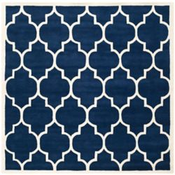 Safavieh Chatham Caprice Dark Blue / Ivory 5 ft. x 5 ft. Indoor Square Area Rug