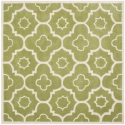 Safavieh Chatham Dedrick Green / Ivory 5 ft. x 5 ft. Indoor Square Area Rug