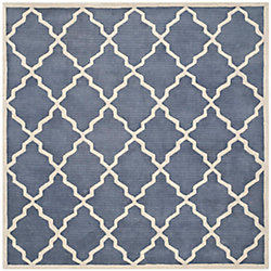 Safavieh Chatham Judy Grey 5 ft. x 5 ft. Indoor Square Area Rug