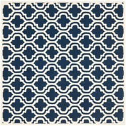 Safavieh Chatham Robin Dark Blue / Ivory 5 ft. x 5 ft. Indoor Square Area Rug