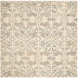 Safavieh Chatham Steven Light Grey / Ivory 5 ft. x 5 ft. Indoor Square Area Rug
