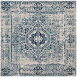 Safavieh Evoke Tom Ivory / Blue 6 ft. 7-inch x 6 ft. 7-inch Indoor Square Area Rug