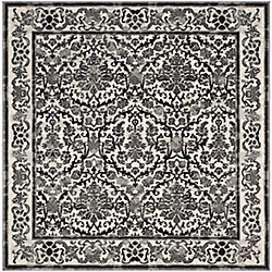 Safavieh Evoke Vince Ivory / Grey 6 ft. 7-inch x 6 ft. 7-inch Indoor Square Area Rug