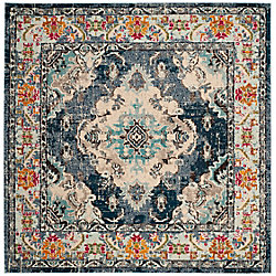 Safavieh Monaco Moses Navy / Light Blue 6 ft. 7-inch x 6 ft. 7-inch Indoor Square Area Rug