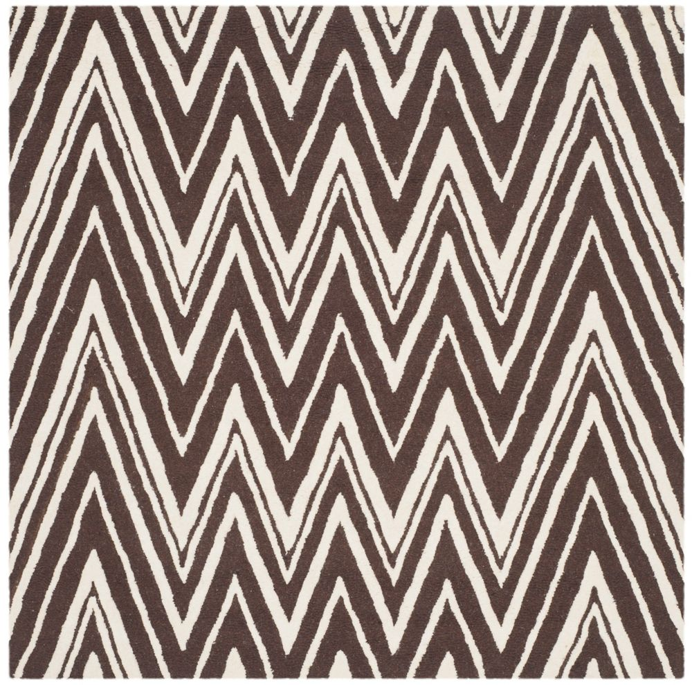 Safavieh Cambridge Chenny Brown / Ivory 6 ft. x 6 ft. Indoor Square Area Rug