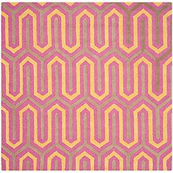 Safavieh Cambridge Gemma Fuchsia / Grey 6 ft. x 6 ft. Indoor Square Area Rug