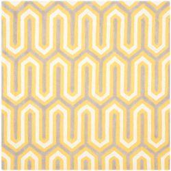 Safavieh Cambridge Gemma Gold / Grey 6 ft. x 6 ft. Indoor Square Area Rug
