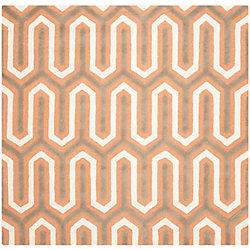 Safavieh Cambridge Gemma Orange / Grey 6 ft. x 6 ft. Indoor Square Area Rug