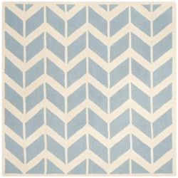 Safavieh Cambridge Pharah Blue / Ivory 6 ft. x 6 ft. Indoor Square Area Rug