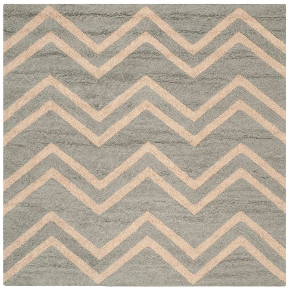 Safavieh Cambridge Trip Grey / Beige 6 ft. x 6 ft. Indoor Square Area Rug