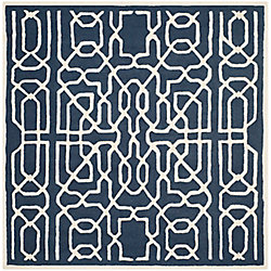Safavieh Cambridge Victoria Navy / Ivory 6 ft. x 6 ft. Indoor Square Area Rug