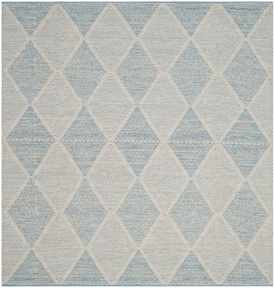 Safavieh Montauk Charlie Light Blue 6 ft. x 6 ft. Indoor Square Area Rug